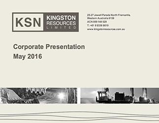 Corporate Presentation – May 2016