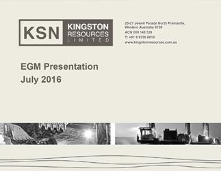 EGM Presentation – July 2016